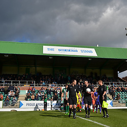 TELFORD COPYRIGHT MIKE SHERIDAN The team emerge from the tunnel during the National League North fixture between Blyth Spartans and AFC Telford United at Croft Park on Saturday, September 28, 2019<br /> <br /> Picture credit: Mike Sheridan<br /> <br /> MS201920-023