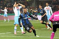 """Esultanza Fredy Guarin Inter dopo il gol 1-0 .Goal celebration.Milano 09/12/2012 Stadio """"San Siro"""".Football Calcio Serie A 2012/13.Inter v Napoli.Foto Insidefoto Paolo Nucci."""