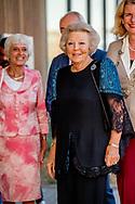 31-8-2017 DEN HAAG - Prinses Beatrix der Nederlanden woont donderdagavond 31 augustus in het Zuiderstrandtheater in Den Haag de dansvoorstelling Free to Move bij. De voorstelling is een samenwerking van het Prinses Beatrix Spierfonds en Holland Dance, waarbij de top van de Nederlandse moderne dans zich belangeloos inzet voor de strijd tegen spierziekten. Copyright ANP ROYAL IMAGES Robin Utrecht