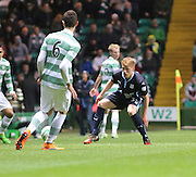 Dundee youngster Calvin Colquhoun ties to shut down Celtic&rsquo;s Nir Biton -  Celtic v Dundee - SPFL Premiership at Celtic Park<br /> <br /> <br />  - &copy; David Young - www.davidyoungphoto.co.uk - email: davidyoungphoto@gmail.com