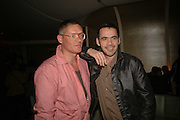 GILES DEACON AND ROLAND MOURET, Luella Bartley Dinner, Nobu, Berkeley St. 16 May 2006. ONE TIME USE ONLY - DO NOT ARCHIVE  © Copyright Photograph by Dafydd Jones 66 Stockwell Park Rd. London SW9 0DA Tel 020 7733 0108 www.dafjones.com