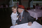 Django Melly and George Melly. Book launch of Take A Girl Like Me - Life With George by Diana Melly. The Polish Club. Exhibition Rd. London. 21 July 2005. ONE TIME USE ONLY - DO NOT ARCHIVE  © Copyright Photograph by Dafydd Jones 66 Stockwell Park Rd. London SW9 0DA Tel 020 7733 0108 www.dafjones.com