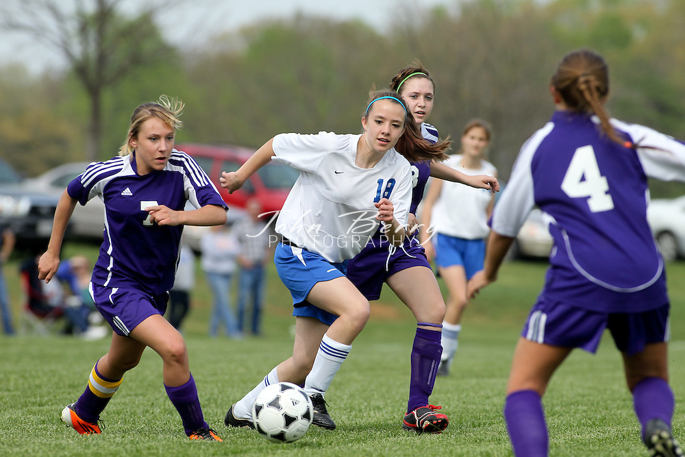 April/19/11:  MCHS JV Girl's Soccer vs Strasburg Rams.  Madison wins 9-0.  Quinn Snow (2), Courtney Pooten, Brooke Crouthamel, Savannah Bench, Megan Wright, Vanessa Long all score first half goals making it 7-0 at half time.  Brianna Heath and Megan Wright add second half goals to make it 9-0 Madison over Strasburg in JV girls soccer. Game ends 15 minutes early by the slaughter rule.