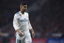 November 18, 2017 - Madrid, Madrid, Spain - Casemiro during the match between Atletico de Madrid and Real Madrid, week 12 of La Liga at Wanda Metropolitano stadium, Madrid, SPAIN - 18th November of 2017. (Credit Image: © Jose Breton/NurPhoto via ZUMA Press)