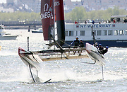 Louis Vuitton Cup racing on New York Harbor as part of the America's Cup World Series, May 8, 2016. (Photo - Stuart Ramson)