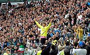 © Filippo Alfero<br /> Juventus vs Atalanta - Serie A 2011 / 2012<br /> Torino, 13/05/2012<br /> sport calcio<br /> Nella foto: Alessandro Del Piero saluta i tifosi che gli dedicano una standing ovation per la sua ultima partita nella Juve