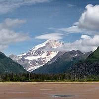 Iliamna Volcano as seen from the flats near Chinitna Bay, part of Lake Clark National Park, Alaska