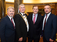 Ronan Scully,  Gorta Self Help Africa Cllr Frank Fahy Mayor of Galway with Gorta Self Help chairman Tom Kitt and Ray Jordan CEO Gorta Self Help Africa at the Gorta Self Help Africa Annual Ball at the Galway Bay Hotel, Salthill Galway.<br /> Photo:Andrew Downes, xposure.
