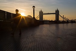 Day breaks in London, with temperatures expected to reach 26 degrees. London, April 19 2018.