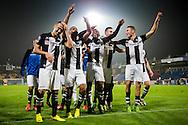 WAALWIJK, RKC Waalwijk - Heracles Almelo, voetbal 1e ronde KNVB beker, seizoen 2013-2014, 24-09-2013, Mandemakers Stadion, Heracles viert de overwinning behaald in de verlenging.