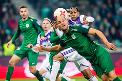 Marcos Magno Morales Tavares of NK Maribor during football match between NK Olimpija Ljubljana and NK Maribor in 1st leg match in Quaterfinal of Slovenian cup 2017/2018, on November 11, 2017 in SRC Stozice, Ljubljana, Slovenia.  Photo by Ziga Zupan / Sportida