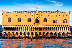 General views of Venice the Doge's Palace at sunrise. From a series of travel photos in Italy. Photo date: Monday, February 11, 2019. Photo credit should read: Richard Gray/EMPICS