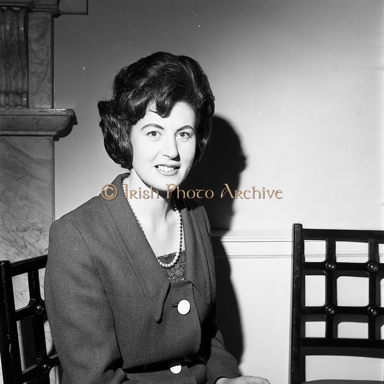 23/11/1964<br /> 11/12/1964<br /> 23 November 1964<br /> <br /> 19 Sales Girls from various parts of Ireland, at a Presentation in the Royal Hibernian Hotel <br /> <br /> Miss Maura Burke, Shaw&amp; Sons. Waterford