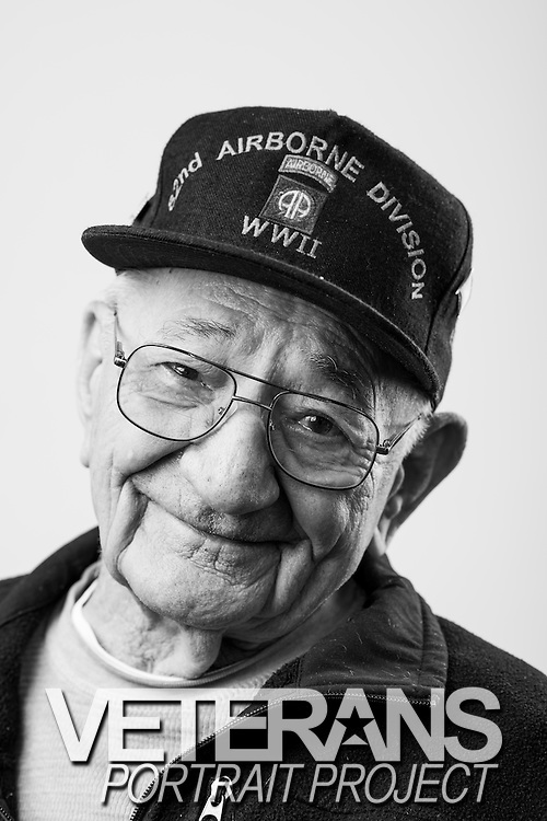 Ted Bodzinski<br /> Army<br /> E-4<br /> Paratrooper<br /> 1943 - 1945<br /> WWII<br /> <br /> Veterans Portrait Project<br /> Springfield, MA