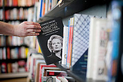 © London News Pictures. 23/04/2013. London, UK. A copy of 'Margaret Thatcher, The Authorized Biography' by Charles Moore on sale at Waterstones Bookshop in Piccadillly, London following its release today (23/04/2013). Photo credit: Ben Cawthra/LNP.