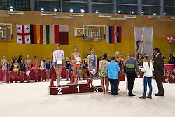 Medal ceremony at rhythmic gymnastics for 15th Slovenian Challenge Tournament 2013, on November 16, 2013, in Dvorana Sentvid, Ljubljana, Slovenia. (Photo by Matic Klansek Velej / Sportida.com)