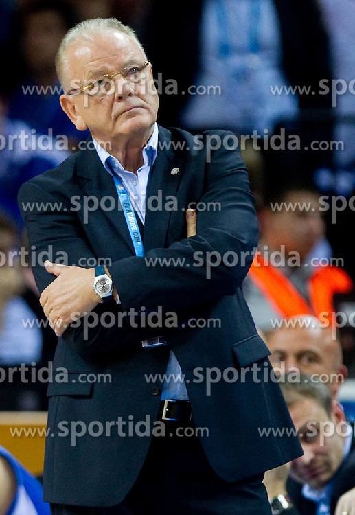 Dusan Ivkovic, head coach of Serbia during basketball game between National basketball teams of Slovenia and Serbia in 7th place game of FIBA Europe Eurobasket Lithuania 2011, on September 17, 2011, in Arena Zalgirio, Kaunas, Lithuania. Slovenia defeated Serbia 72 - 68 and placed 7th. (Photo by Vid Ponikvar / Sportida)