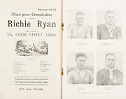 Munster Minor and Senior Hurling Championship Final,held at Croke Park, Dublin, Ireland.<br /> .25.07.1937, 07.25.1937, 25th July 1937,.25071937MSMHCF,...Richie Ryan, place your commisions, 27a Cook St Cork,..J Lanigan Captain Tipperary. M Mackey Captain Limerick. J Cooney Tipperary. P Scanlon Limerick,