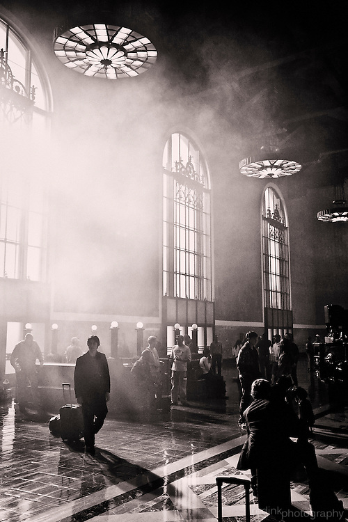 If you try hard enough you can almost imagine this is how LA Union Station would have looked 80 years ago...always nice to sneak alongside a commercial shoot.