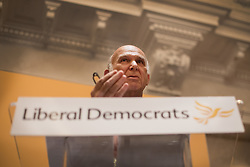 © Licensed to London News Pictures. 20/07/2017. London, UK. Sir Vince Cable arrives speaks after being announced as the new Liberal Democrat party leader. Tim Farron stepped down after the general election.  Photo credit: Peter Macdiarmid/LNP