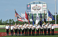 Lorain County Scholar Athletes and American Legion Post 211 before a Frontier League game between the Joliet Slammers and the host Lake Erie Crushers on May 30, 2012 at All Pro Freight Stadium in Avon, Ohio.