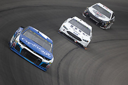 June 10, 2018 - Brooklyn, Michigan, United States of America - Kyle Larson (42) races off turn one during the FireKeepers Casino 400 at Michigan International Speedway in Brooklyn, Michigan. (Credit Image: © Stephen A. Arce/ASP via ZUMA Wire)