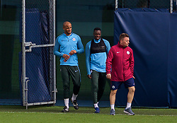 MANCHESTER, ENGLAND - Monday, April 9, 2018: Manchester City's captain Vincent Kompany during a training session at the City Football Academy ahead of the UEFA Champions League Quarter-Final 2nd Leg match between Manchester City FC and Liverpool FC. (Pic by David Rawcliffe/Propaganda)