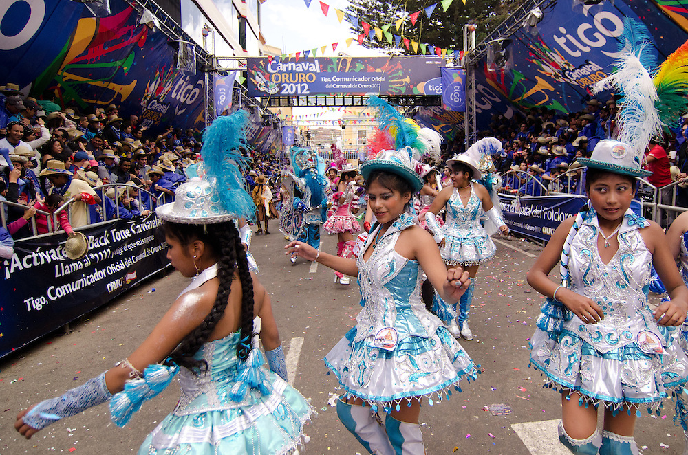 Young women perform at Carnival.