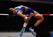 Vashti Cunningham (USA) places second in the women's high jump at 6-4 (1.93m) during the IAAF World Indoor Championships at Arena Birmingham in Birmingham, United Kingdom on Thursday, Mar 1, 2018. (Steve Flynn/Image of Sport)
