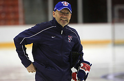 Head Coach of Slovenia Mats Waltin at practice of Slovenian national team at Hockey IIHF WC 2008 in Halifax,  on May 06, 2008 in Metro Center, Halifax, Canada.  (Photo by Vid Ponikvar / Sportal Images)