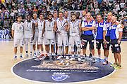 """Team Banco di Sardegna Dinamo Sassari<br /> Banco di Sardegna Dinamo Sassari - Galatasaray Odeabank Istanbul<br /> Trofeo Città di Sassari """"Memorial Mimì Anselmi""""<br /> Sassari 11/09/2016<br /> Foto Ciamillo-Castoria"""