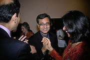 Rajit Dutta, Other,Riyas Komu and Peter Drake. - VIP  launch of Aicon. London's largest contemporary Indian art gallery. Heddon st. and afterwards ant Momo.15 Marc h 2007.  -DO NOT ARCHIVE-© Copyright Photograph by Dafydd Jones. 248 Clapham Rd. London SW9 0PZ. Tel 0207 820 0771. www.dafjones.com.