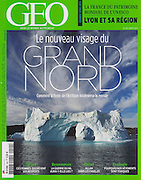 """Le Nouvea visage du Grand Nord"" - my photograph of an iceberg in Nugatsiaq, Greenland, on the cover of the March 2013 GEO France magazine.<br />