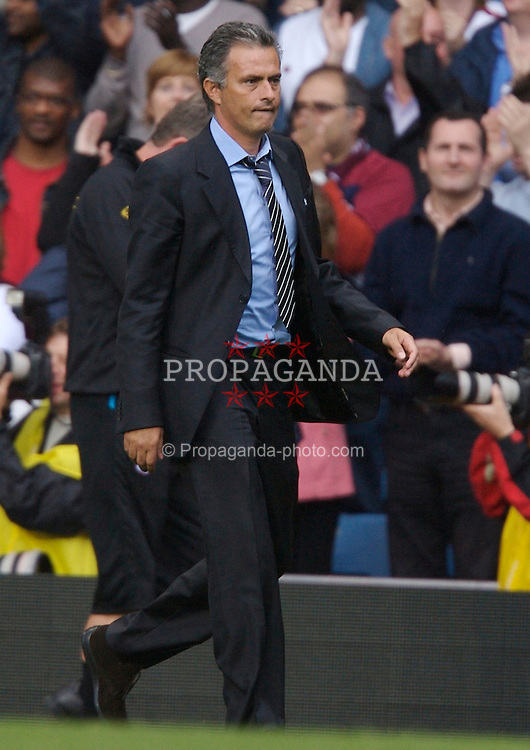 Birmingham, England - Sunday, September 2, 2007: Chelsea's manager Jose Mourinho walks off dejected after losing 1-0 to Aston Villa during the Premiership match at Villa Park. (Photo by David Rawcliffe/Propaganda)