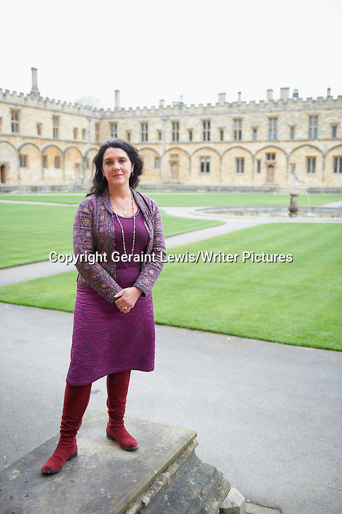 Bettany Hughes, historian, author and writer of The Hemlock Cup  at The Oxford Literary Festival at Christchurch College Oxford. Taken 31st March 2012<br /> <br /> Credit Geraint Lewis/Writer Pictures<br /> <br /> WORLD RIGHTS