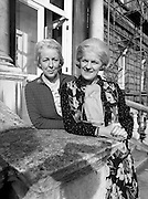 Senator Tras Honan and Deputy Carrie Acheson, the only sisters ever to have been elected to the Oireachtas. Senator Tras Honan (left) was elected to the Administrative Panel of the Seanad in 1977, and re-elected in 1981. Carrie Acheson, Alderman of Clonmel Corporation, was elected to the Dáil for the first time in June.<br />