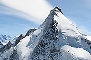 The west face of the Dent d'Herens, Valais, Switzerland