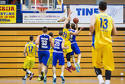 during basketball match between KK Sencur  GGD and KK Tajfun Sentjur for Spar cup 2016, on 16th of February , 2016 in Sencur, Sencur Sports hall, Slovenia. Photo by Grega Valancic / Sportida.com
