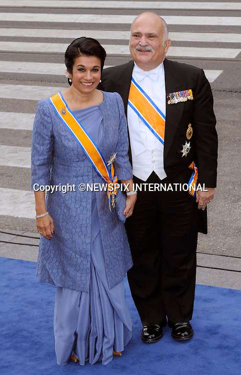"30.04.2013; Amsterdam: KING WILLEM-ALEXANDER INAUGURATION.PRINCE EL HASSAN BIN TALAL AND PRINCESS SARVATH EL HASSAN OF JORDAN.attend King Willem-Alexander's inauguration at Nieuwe Kerk, Amsterdam, The Netherlands, .Mandatory Credit Photos: ©NEWSPIX INTERNATIONAL..**ALL FEES PAYABLE TO: ""NEWSPIX INTERNATIONAL""**..PHOTO CREDIT MANDATORY!!: NEWSPIX INTERNATIONAL(Failure to credit will incur a surcharge of 100% of reproduction fees)..IMMEDIATE CONFIRMATION OF USAGE REQUIRED:.Newspix International, 31 Chinnery Hill, Bishop's Stortford, ENGLAND CM23 3PS.Tel:+441279 324672  ; Fax: +441279656877.Mobile:  0777568 1153.e-mail: info@newspixinternational.co.uk"