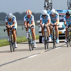 Brainwash Ladiestour Dronten Team Time Trail Restore cycling Judith Bloem, Ashlyn van Baarle, Veerle Goossens, Lotte van Hoek, Manon Klomp, Kirsten Niessen