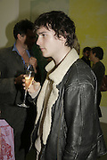 Jackson Boxer, Johnnie Shand Kydd:  book launch party celebrate the publication of Crash.White Cube. Hoxton sq. London. 18 September 2006. ONE TIME USE ONLY - DO NOT ARCHIVE  © Copyright Photograph by Dafydd Jones 66 Stockwell Park Rd. London SW9 0DA Tel 020 7733 0108 www.dafjones.com