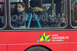 © Licensed to London News Pictures. 11/02/2020. London, UK. Passengers travelling on a hybrid bus as Prime Minister, BORIS JOHNSON announces £5 billion new funding to improve bus services and cycle lanes across the country, which will transform with simpler fares, thousands of new buses, improved routes and higher frequencies. There will be at least 4,000 new Zero Emission Buses to make greener travel, driving forward the UK's progress on its net zero ambitions. Photo credit: Dinendra Haria/LNP