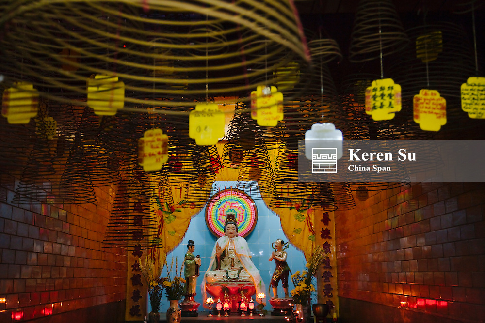 Goddess of Mercy at Chinese temple.