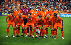 Holland Team Group during the International Friendly between Netherlands and England at the Amsterdam Arena on August 12, 2009 in Amsterdam, Netherlands.