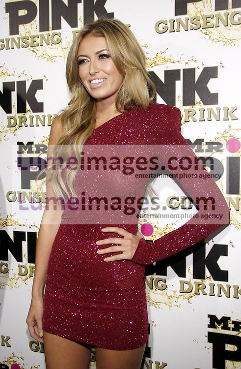 Paulina Gretzky at the Mr. Pink Ginseng Drink Launch Party held at the Regent Beverly Wilshire Hotel in Beverly Hills, USA on October 11, 2012.