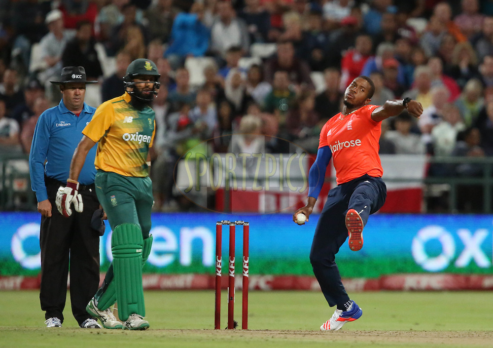 Chris Jordan during the First KFC T20 Match between South Africa and England played at Newlands Stadium, Cape Town, South Africa on February 19th 2016