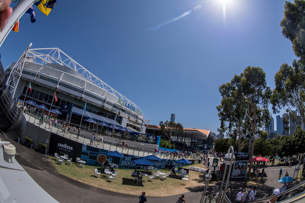 A general view outside of Rod Laver Arena day ten of the 2018 Australian Open in Melbourne Australia on Wednesday January 24, 2018.<br /> (Ben Solomon/Tennis Australia)