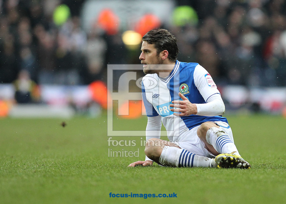Picture by Michael Sedgwick/Focus Images Ltd +44 7900 363072.23/02/2013.David Bentley of Blackburn Rovers appeals for a foul during the npower Championship match against Leeds United at Ewood Park, Blackburn.