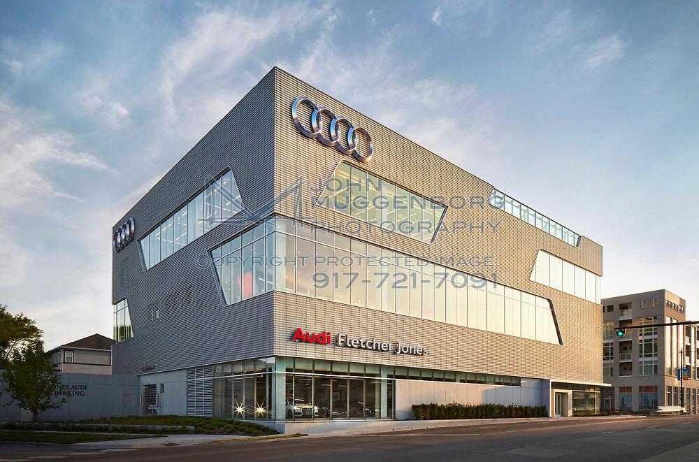 The Fletcher Jones Audi Terminal dealership in North Chicago, IL. Photo by John Muggenborg.