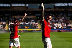 Josh Brownhill of Bristol City celebrates - Mandatory by-line: Robbie Stephenson/JMP - 24/08/2019 - FOOTBALL - KCOM Stadium - Hull, England - Hull City v Bristol City - Sky Bet Championship